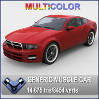 generic muscle car stallion 3d max