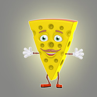 cartoon cheese 3d model