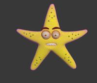 3d toon character starfish