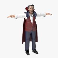 vampire human man 3d 3ds