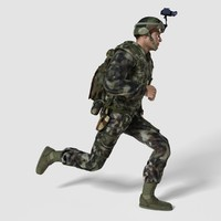 maya male soldier human