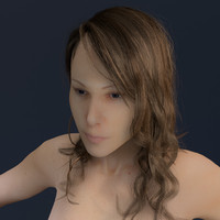 female anatomy 3d obj