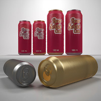 3d max beer cans ml 1000