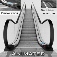 escalator 5m 3d max