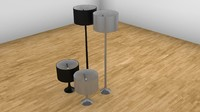 3d model of flos spun lamps pack