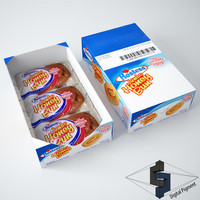 hostess honey bun 3d model