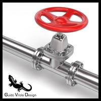 3d model hydraulic valve