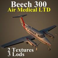 3d beech mcd aircraft model