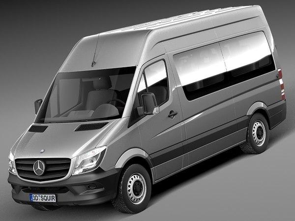 2014 mercedes mercedes benz 3d model for 2014 mercedes benz sprinter passenger van