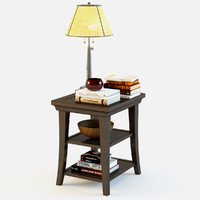 3d pottery barn metropolitan table model