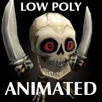 mini Skeleton Low Poly Animated