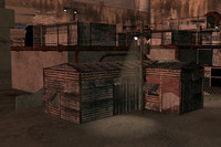 3d slums buildings model