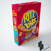 3d 3ds nabisco ritz peanut butter