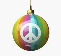 christmas ball - peace 3d model