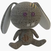3d model toy sock rabbit