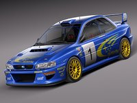 3d model of japan car sport subaru impreza
