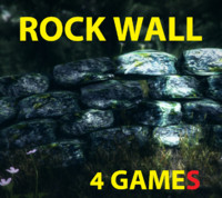games rock wall 3d model