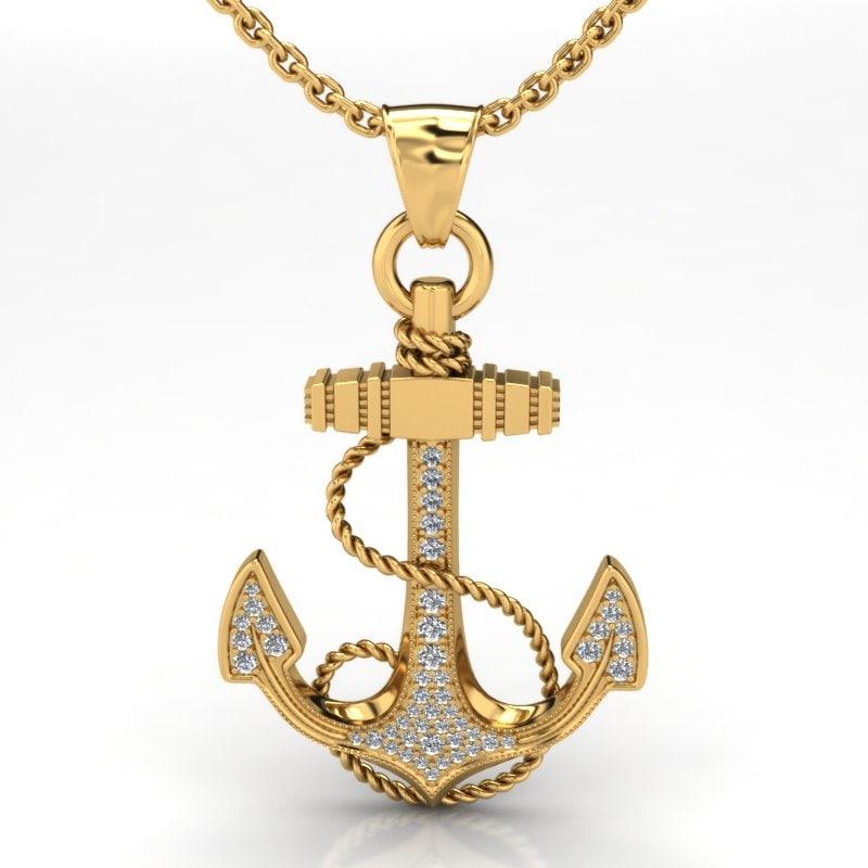 3d gold anchor photo - photo #20