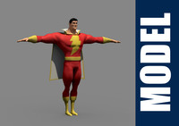 3d captain marvel model
