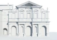 facade basilica st bartholomew 3d obj