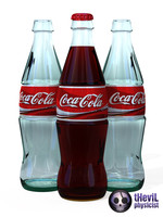 materials coca cola bottle c4d