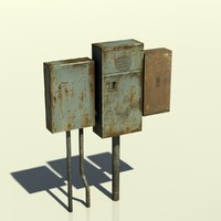 box electric 3d obj