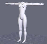 free female lady woman 3d model
