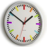 karlsson rainbow wall clock 3d max