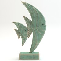 3ds statue fish