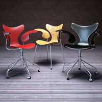 lily swivel chair 3d model