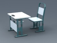 adjustable school desk 3d model