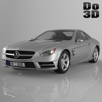 mercedes benz sl 3d model