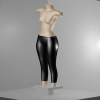 latex pants 3d model