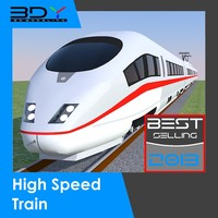 High Speed Train (ICE3) + Rails