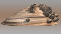 balanus barnacle seas 3d model