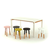 stool table 3d obj