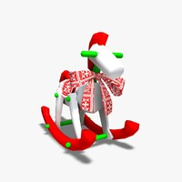 dxf rocking horse decoration