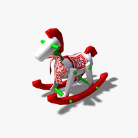 rocking horse decoration dxf