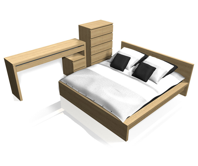 ikea malm bedroom furniture set