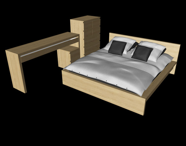 ikea malm bedroom furniture 3d c4d ikea malm bedroom furniture set