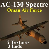 ac-130 spectre oma 3d max