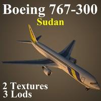 boeing 767-300 sud 3d max