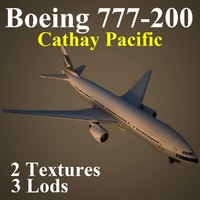 3d boeing 777-200 cpa model