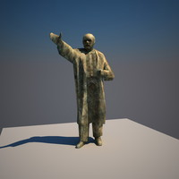3d model of lenin