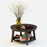 3d model pottery barn metropolitan coffee table