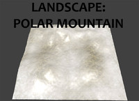polar mountains landscape 3d model