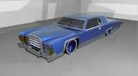 lowrider car blue 3d model