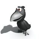 cartoon crow 3D models