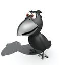 cartoon crow 3D models