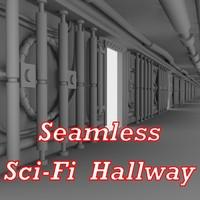 Sci-Fi wall - highpoly